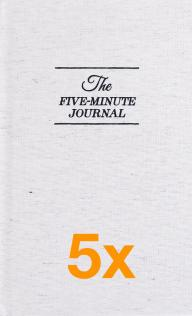 5 x The Five Minute Journal (Paketangebot)