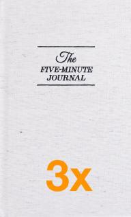 3 x The Five Minute Journal (Paketangebot)